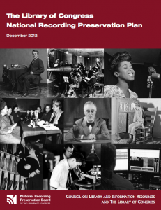 National Recording Preservation Plan